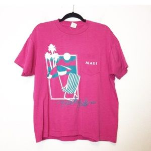 Other - Vintage Maui Beach Club Pink T Shirt Unisex XL